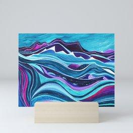 Blue Landscape Mini Art Print