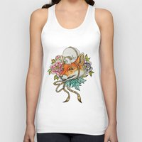 kitsune Tank Tops featuring Kitsune by Total-Cult