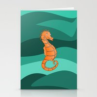 seahorse Stationery Cards featuring Seahorse by mailboxdisco