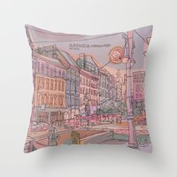 budapest Throw Pillows featuring Astoria-Budapest by Zsolt Vidak
