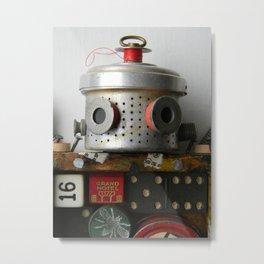 Scrap Bot (Close up 2) Metal Print