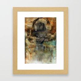 Psalm 34:8 Scripture Abstract Art Bible Verse Paintings Framed Art Print