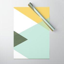 Geometrics - citrus & concrete Wrapping Paper