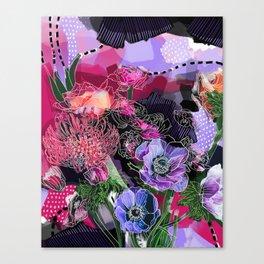 Petals and Polka Dots Canvas Print