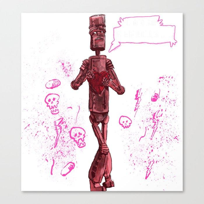 Awkward Robot Canvas Print