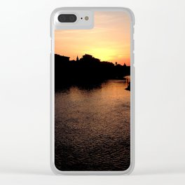 Sunset over the Ponte Vecchio Clear iPhone Case