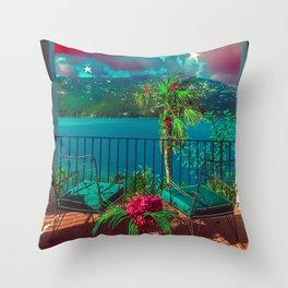 Island Home Throw Pillow