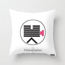The Filmographer Throw Pillow