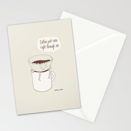 Coffee Runs Stationery Cards