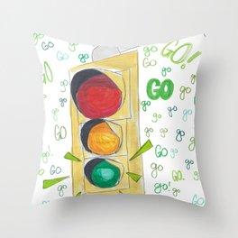 Go!Go!Go! Throw Pillow