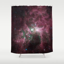 Abstract Purple Space Image Shower Curtain