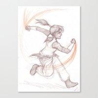 legend of korra Canvas Prints featuring Korra by AndytheLemon