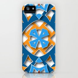 aztec mandala sun blue iPhone Case