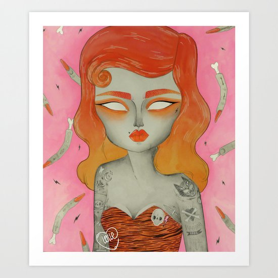 ORANGE ϟ VOODOO Art Print