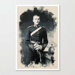 Portrait of a Young  WWI Soldier Series 21 Canvas Print