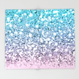 Dazzling Unicorn Gradient  Throw Blanket