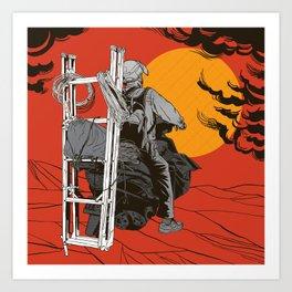 Ladder To The Sun Art Print