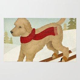 Doodle Schnoodle Whoodle Labradoodle Goldendoodle Ski Dog Rug