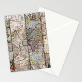 Old Times (World Map) 2 Stationery Cards