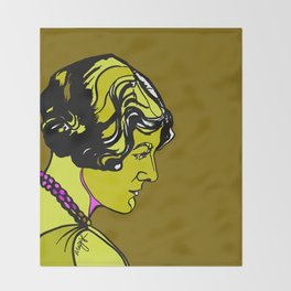 Rebecca Clarke Composer Portrait Throw Blanket