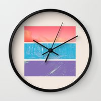 breaking Wall Clocks featuring Colour by POP.