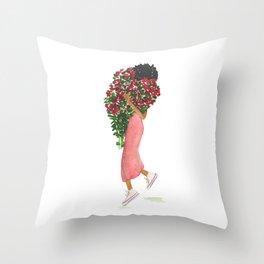 Flower Girl (Un) Throw Pillow
