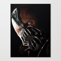 bane Canvas Prints featuring Bane by Rav Chaggar