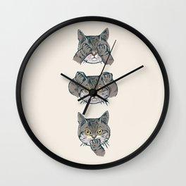 No Evil Cat Wall Clock