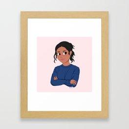 Sport Girl Framed Art Print