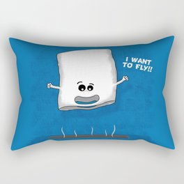 I want to fly Rectangular Pillow