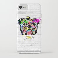 bulldog iPhone & iPod Cases featuring Bulldog by morganPASLIER