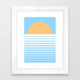 Tropical Sun Framed Art Print