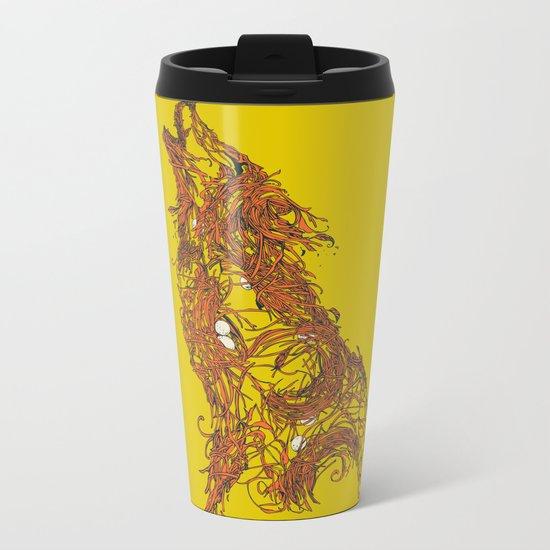 Born To Be Natural Metal Travel Mug