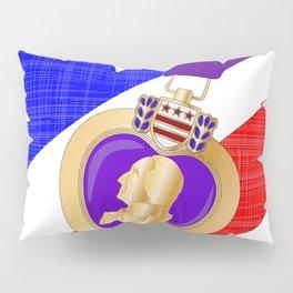 Flag and Purple Heart Pillow Sham