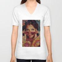 bianca V-neck T-shirts featuring Bianca by Yuri Torres Bertazolli