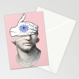FACE of the YOUTH / Marble statue head Stationery Cards
