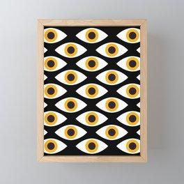 EYES_POP_ART_01 Framed Mini Art Print
