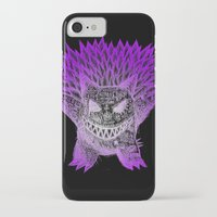 gengar iPhone & iPod Cases featuring scratchy gengar  by cavia