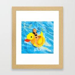 Pool Queen Framed Art Print