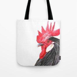 Rooster Portrait Tote Bag