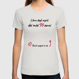 16 anni auguri ragazza T-shirt