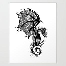 Sea Wyvern Art Print