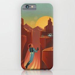 Retro Space Travel iPhone Case