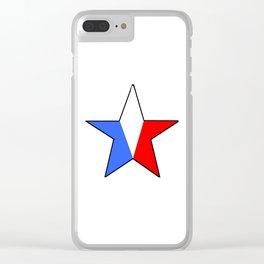 Flag of France 14- France, Français,française, French,romantic,love,gastronomy Clear iPhone Case
