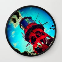 ace Wall Clocks featuring Ace by thejennii