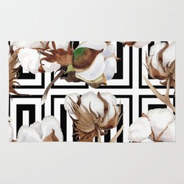 Cotton Flower Pattern 07 Rug