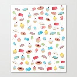 Cute desserts Canvas Print