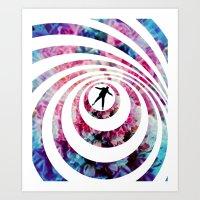 vertigo Art Prints featuring VERTIGO by Tia Hank