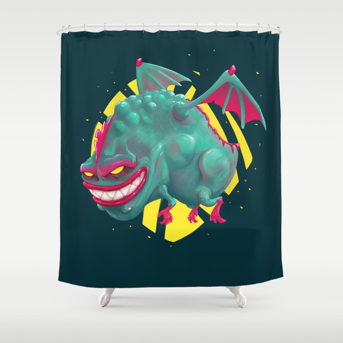 Kandy the Toxic Dragon Shower Curtain