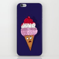 cocaine iPhone & iPod Skins featuring There's Never Gonna Be Enough Ice Cream! by Chris Piascik